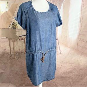 Cloth & Stone Chambray Drawstring Dress